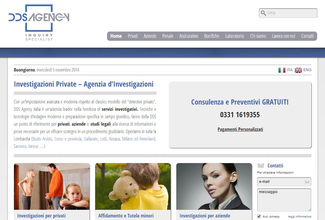 Agenzia investigativa dds agency italia - posizionamento sito web nei motori di ricerca (SEO)