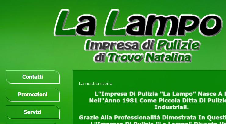 Ottimizzazione testi sito impresa pulizie La Lampo