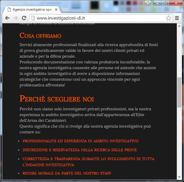 Siti web responsive agenzia investigativa D & I Group
