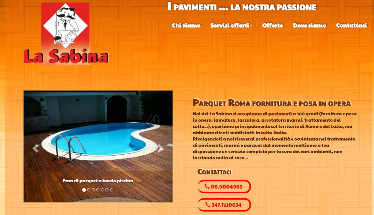 Realizzazione ed ottimizzazione sito web laSabina.it