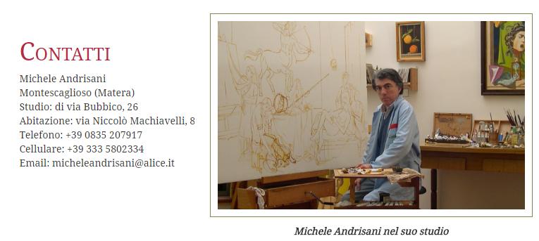 Michele Andrisani nel suo studio