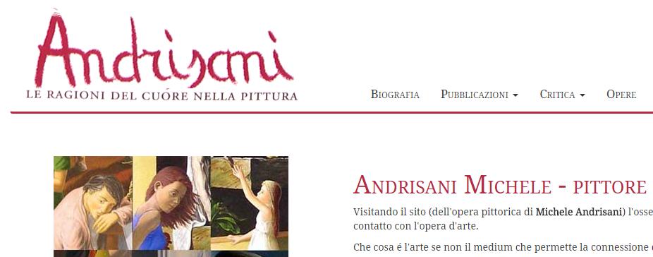 Home page del sito web di Michele Andrisani
